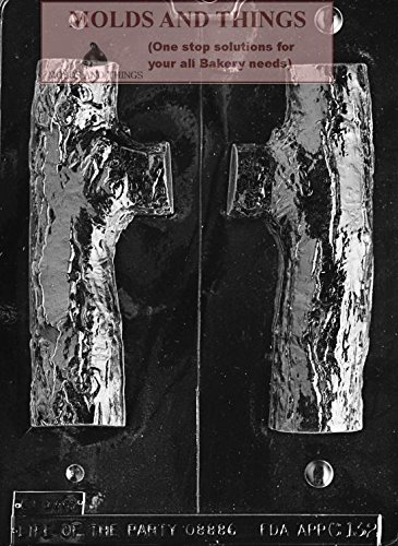 (3D YULE LOG Chocolate Candy Mold, Christmas Chocolate Candy Mold With Copyrighted Chocolate Molding Instructions)