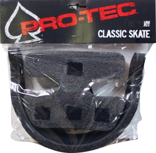 PRO-TEC Classic Skate 2-Stage Foam Liner Black Medium Helmet Replacement ()