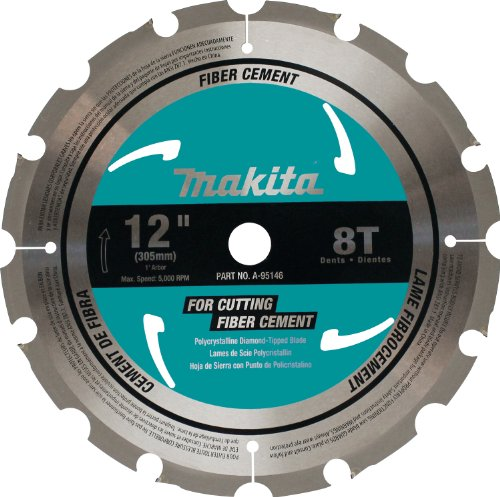Makita A-95146 12-Inch PCD Tipped Miter Saw Blade with Fiber - Fiber Trim Cement