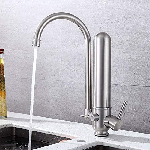 毎日の装飾ネットタップ蛇口360°回転ステンレスキッチン流域の蛇口ダブルヘルシーな水耐摩耗性耐久性のある混合タップ