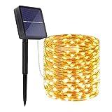 Extra-Long Solar String Lights Outdoor, 78.7FT 8 Modes Solar Fairy Lights, 240LED 1200 Mah Battery Backup, Waterproof Christmas Solar Powered Lights for Garden, Tree, Wedding, Party, Halloween