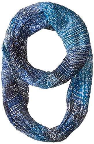 (Echo Women's Metallic Cable Stitch Loop Scarf, deep sapphire One)