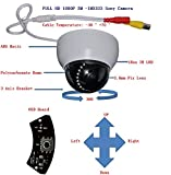 """1080P 2Megapixel 1/2.7"""" SONY 323 CMOS Sensor Indoor Security Camera 3.6mm Lens with IR Cut, Indoor Dome Camera - 18PCS Infrared LEDs, Night Vision, 65ft IR Distance, Polycarbonate Dome Housing"""
