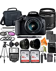 $549 » Canon EOS 2000D / Rebel T7 Digital SLR Camera 24.1MP with 18-55mm Zoom Lens + ZeeTech Accessory Bundle, 2 Pack SanDisk 32GB Memory Card, Telephoto and Wideangle Lenses, Flash, Tripod