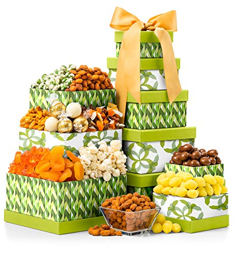 - GiftTree The Sweet Life Gourmet Gift Tower | Includes Old Fashioned Candies, Almonds, Snack Mix, Jelly Beans, Dried Fruits & More | Perfect for Any Occasion