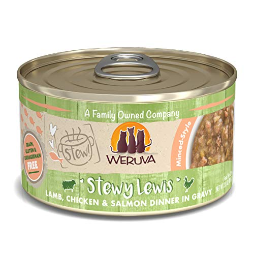 Weruva Classic Cat Stews, Stewy Lewis with Lamb, Chicken & Salmon in Gravy, 2.8oz Can (Pack of 12) ()
