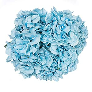 Royal Imports Hydrangea Flowers Artificial Fake Silk Bunch of 6 Heads for Bouquets, Weddings, Valentines, Wreaths, Crafts 54