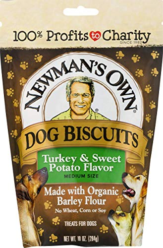 Newman's Own Dog Biscuits, Turkey & Sweet Potato - Breakable, 10-oz. (Pack of 6) (Potato Treats Sweet Dog Organic)