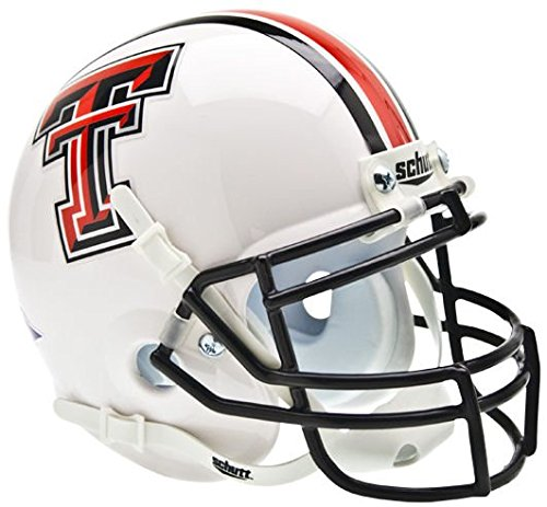 Texas Tech Mini Helmet (NCAA Texas Tech Red Raiders Collectible Alt 1 Mini Helmet, White)