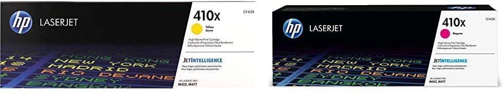 HP 410X | CF412X | Toner Cartridge | Yellow | High Yield & 410X | CF413X | Toner Cartridge | Magenta | High Yield