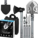 BANORES Camping Shovel Axe, Multifunctional Folding Shovel and Survival Axe 19.37-38.97inch Lengthened Handle High Carbon Stainless SteeL with Storage Pouch for Camping, Hiking, Backpacking, Emergency (Color: Camping Shove Axe, Tamaño: Camping Shove Axe)