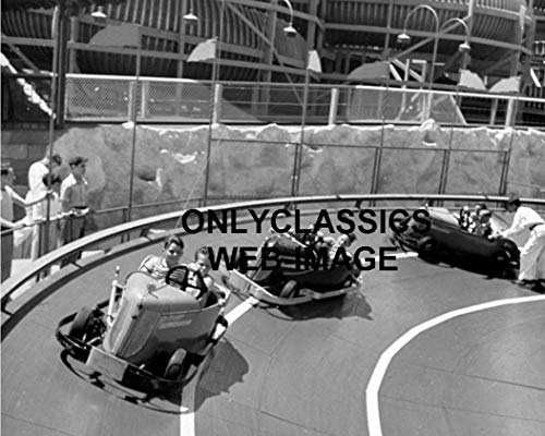 OnlyClassics 1939 GO Kart Bumper Cars Midget Mini Stock CAR 8X10 Photo-Amusement Park Racetrack Art - Kart Go Midget