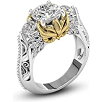 siamsmilethailandshop Womens Fashion Jewelry 925 Silver White Sapphire Gold Owl Gemstone Wedding Ring (8)