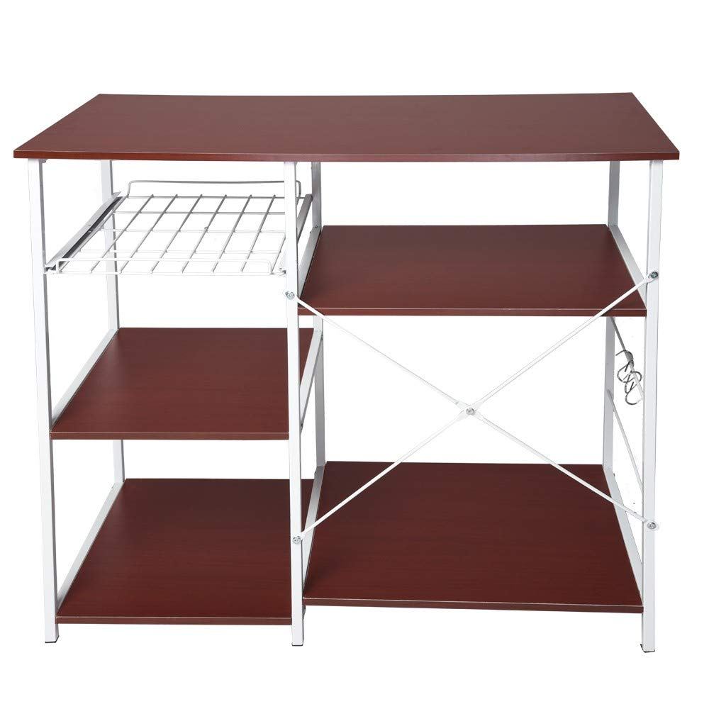 Onlyyes Multifunctional Kitchen Rack Microwave Oven Floor Shelf Stand Storage Cupboard Workstation Shelf