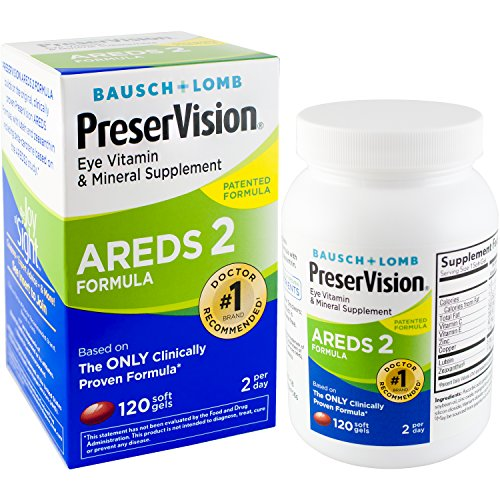 Bausch + Lomb PreserVision AREDS 2 Eye Vitamin & Mineral Supplement Soft Gels, 120 Count Bottle