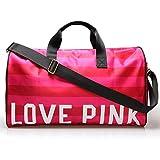 Ladies sports bag womens gym bags sports holdalls gym duffel bags (Pink love)