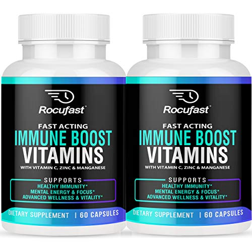 Immune Support Immunity Booster Supplement with Vitamins for Immune Boost – 35 Essential Vitamins Including Vitamin C, Zinc, Echinacea 2 Bottles
