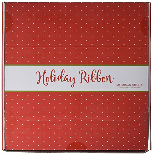 American Crafts Dollar 80 Roll Christmas Ribbon Box
