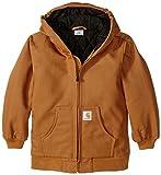Carhartt Big Boys' Active Duck Jacket, Carhartt Brown, Small-7/8