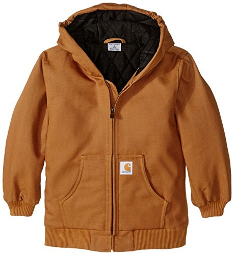 Carhartt Big Boys' Active Duck Jacket, Carhartt Brown, Small-7/8