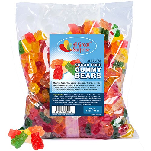 Sugar Free Gummy Bears - Sugar Free Candy - Gummy Bears Bulk - Bulk Candy - 5 -
