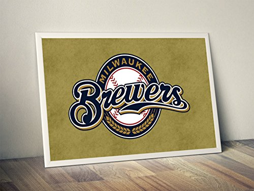Milwaukee Brewers Limited Poster Artwork - Professional Wall Art Merchandise (More (8x10)