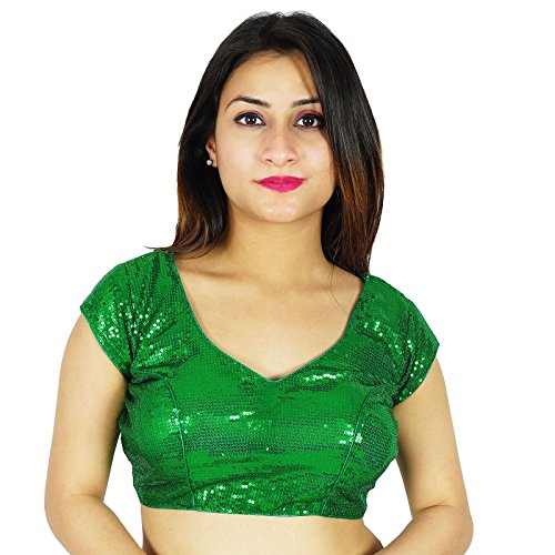 ibaexports Designer Choli Stitched Blouse Weaving Ready Wedding Party Wear Made Crop-Top