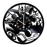 Jedfild The lovely art wall clock exposed Musical Instruments