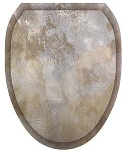 Toilet Tattoos Tt 1040 O Silver Stone Decorative Applique