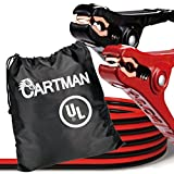 Cartman Booster Cable, Jumper Cables in Carry Bag, 8 Gauge UL Listed (8 AWG x 12 Feet)