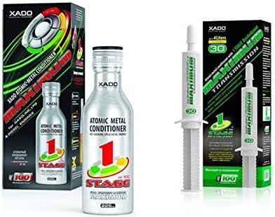 XADO Set 1 aditivo 1Stage Maximum protección para el motor + 1 protección caja de cambios manual: Amazon.es: Coche y moto