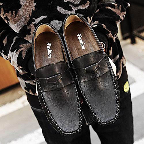 Hommes de YH Noir Chaussures Cyclisme de Chaussures Confortables Marche Mocassins Chaussures Pois paresseuses à Chaussures de Hommes Sport Respirantes Chaussures Chaussures légères tr1caqwr