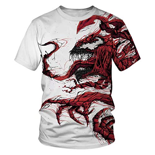 Tsyllyp Women Men Summer T Shirt Venom Halloween Costume T-Shirts Tops -