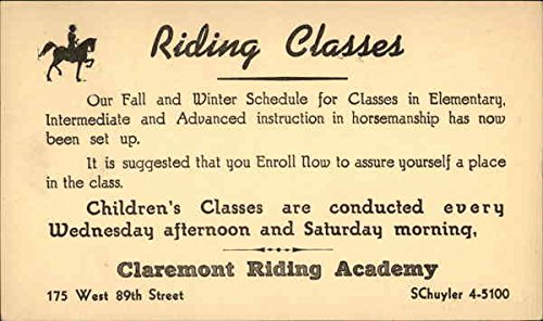 riding-classes-claremont-riding-academy-new-york-new-york-original-vintage-postcard