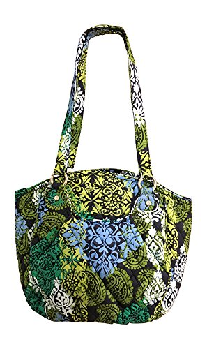 Bradley With Caribbean Signature Vera Sea Lining Navy Cotton Shoulder Glenna Solid Bag dqYYwxH8C