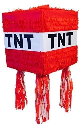 Red TNT custom Pinata (Party Minecraft)