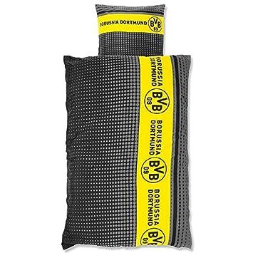 Bvb 09 Borussia Dortmund Bettwäsche Microfaser Streifenpunkte