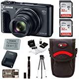 Canon Powershot SX730 Digital Camera (Black) with 64GB Kit + Battery + Bundle