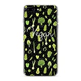 Lex Altern TPU Case for iPhone Apple Xs Max Xr 10 X 8+ 7 6s 6 SE 5s 5 Beautiful Pattern Green Veggie Vegs Clear Cover Silicone Graphic Print Durable Design Royal Girl Gift Women Teen Flexible Top