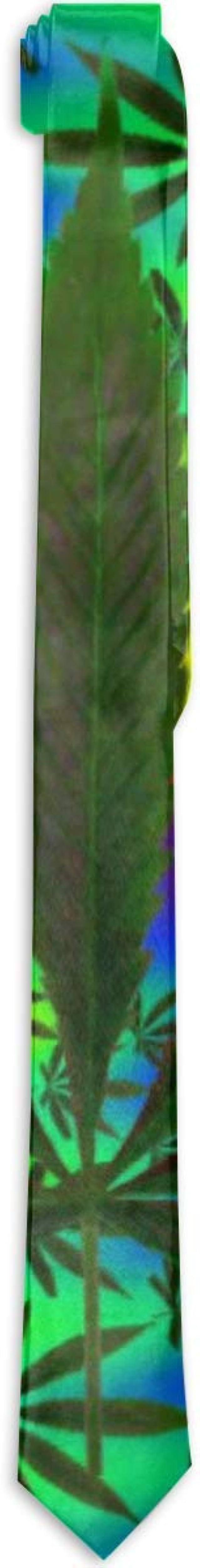 Corbata formal de seda psicodélica multicolor con hojas de ...