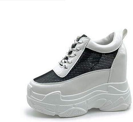 ASO-SLING Zapatos de cuña con Diamantes de imitación para Mujer ...