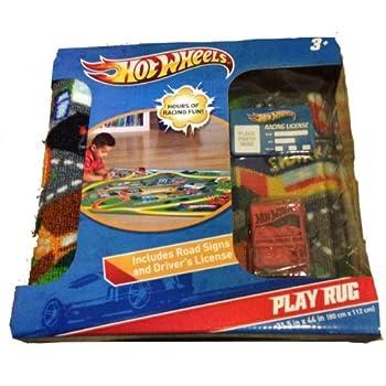 Amazon Com Hot Wheels Play Rug Toys Games