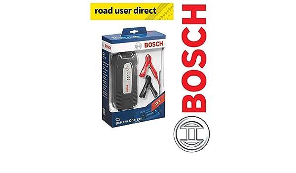 Bosch C1 12 V inteligente/Smart cargador de batería: Amazon.es ...