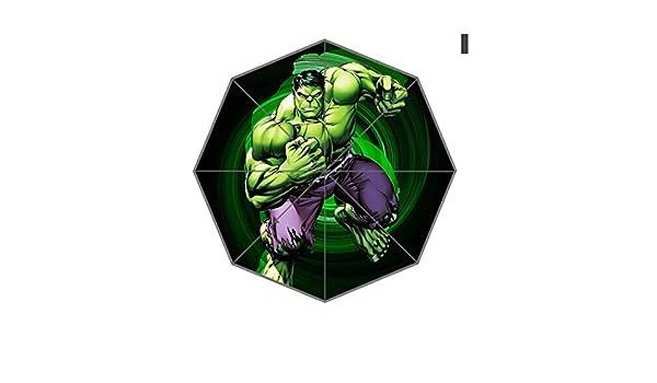 Hulk de Los Vengadores paraguas paraguas de diseño de moda para hombre y mujer 0154: Amazon.es: Jardín