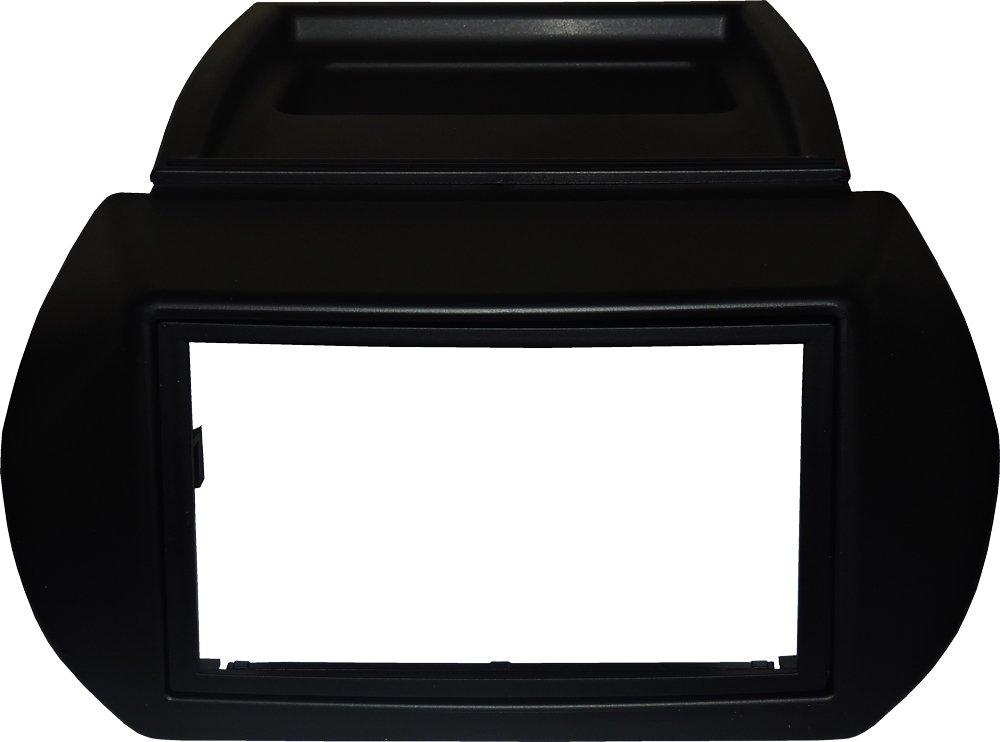 NERO Mascherina autoradio 2 DIN con cornice radio Colore mascherina