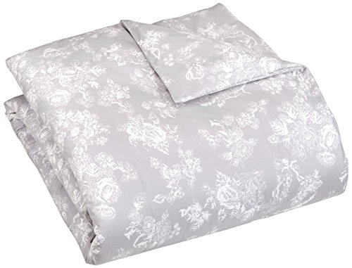 Pinzon Flannel Duvet Cover - Twin, Floral Grey