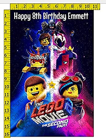 1/2 Sheet Lego Movie 2 The Second Part Image Edible Frosting
