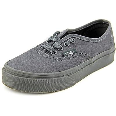 Vans Kids Authentic Skate Shoe, Dark Shadow/Black