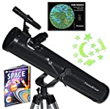 "Black TwinStar FirstStar 3"" Reflector Telescope Kids Pak Bundle"