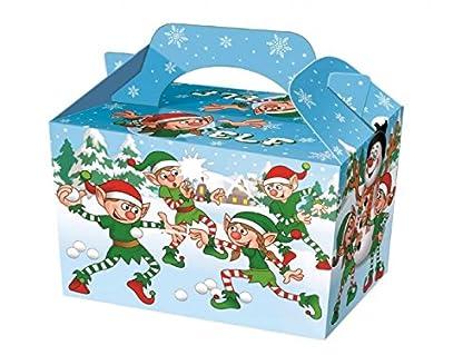 20 x Bolsa de Navidad de Navidad elfo alimentos comida cajas – caja de regalo niños